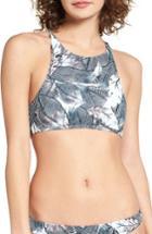 Women's Roxy Love Print Crop Bikini Top