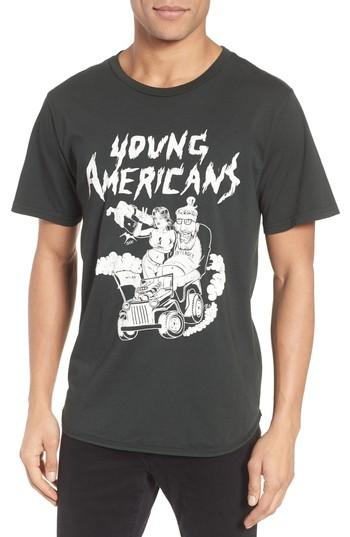 Men's Barking Irons Your Americans Graphic T-shirt - Black
