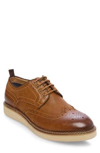 Men's Steve Madden Gibson Wingtip M - Brown