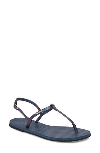 Women's Havaianas You Riviera Sandal /40 Br - Blue