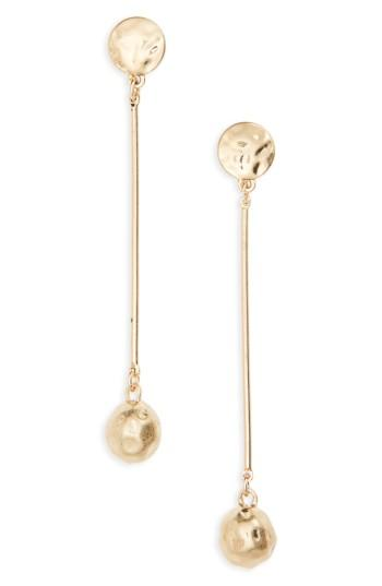 Women's Bp. Textured Ball Drop Earrings