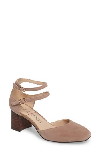 Women's Sole Society Selby Double Strap Pump M - Brown
