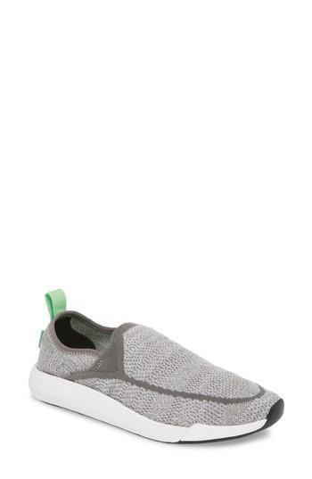 Women's Sanuk Chiba Quest Knit Slip-on Sneaker M - Grey
