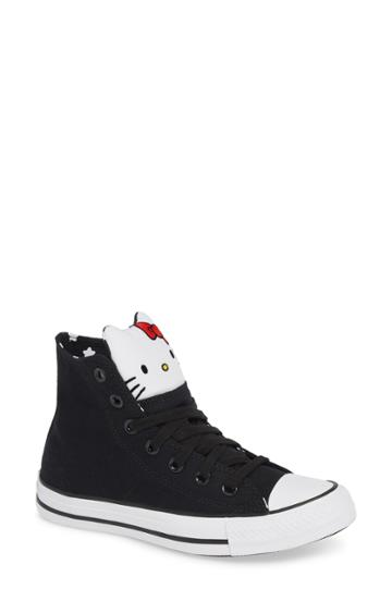 Women's Converse X Hello Kitty Chuck Taylor All Star High Top Sneaker M - Black