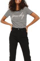 Women's Topshop Peachy Stripe Tee Us (fits Like 0) - Black