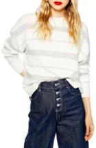 Women's Topshop Supersoft Stripe Sweater Us (fits Like 0) - Ivory