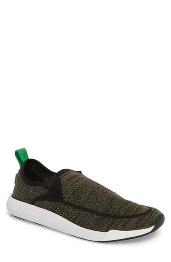 Men's Sanuk Chiba Quest Knit Slip-on Sneaker M - Green