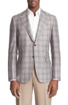 Men's Canali Classic Fit Plaid Wool Blend Sport Coat