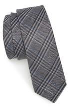 Men's The Tie Bar Columbus Plaid Linen & Silk Tie, Size - Grey