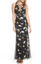 Women's Adrianna Papell Sequin Embroidery Gown - Blue