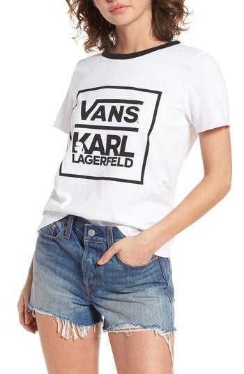Women's Vans X Karl Lagerfeld Ringer Tee