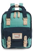 Doughnut Mini Macaroon Colorblock Water Resistant Backpack - Blue