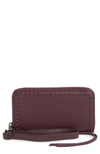 Women's Rebecca Minkoff Vanity Leather Smartphone Wristlet - Red