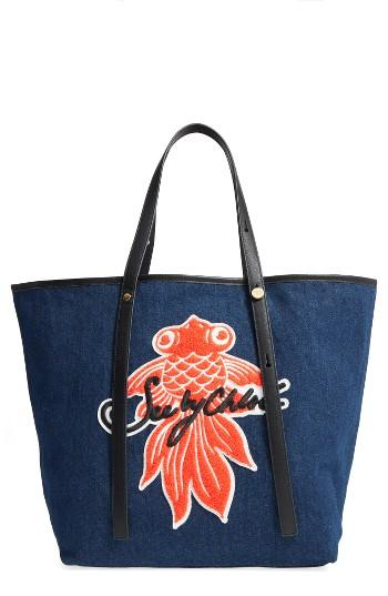 See By Chloe Applique Denim Tote -