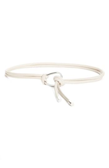 Women's Lafayette 148 New York Leather Rope Belt, Size /small - Taupe