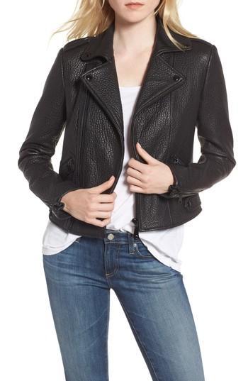 Women's Rebecca Minkoff Wolf Leather Moto Jacket