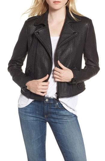 Women's Rebecca Minkoff Wolf Leather Moto Jacket