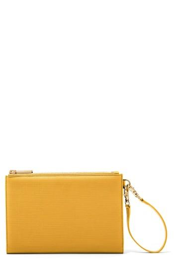 Women's Dagne Dover Signature Essentials Coated Canvas Clutch/wallet - Yellow