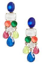 Women's Loren Hope Scarlet Jewel Statement Earrings