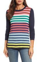 Women's Halogen Colorblock Stripe Sweater - Coral