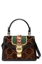 Gucci Mini Sylvie Velvet Top Handle Bag -