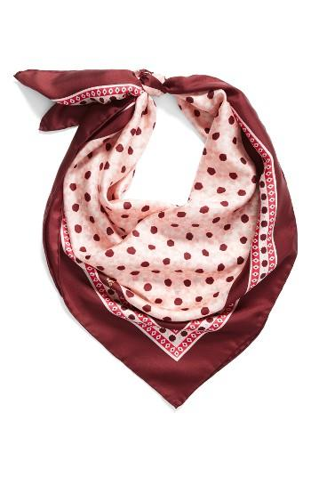 Women's Kate Spade New York Floral Tile Silk Square Scarf
