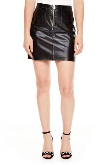 Women's Sandro Leather Miniskirt