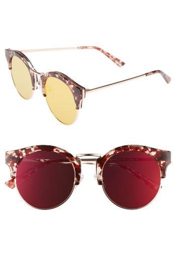 Women's Bonnie Clyde Broadway 51mm Retro Sunglasses - Lovesick Red