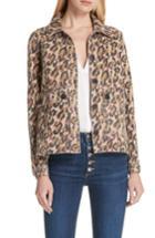 Women's Veronica Beard Mercer Leopard Print Jacket - Brown