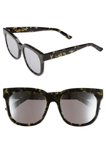 Women's Gentle Monster 56mm Retro Sunglasses - Black