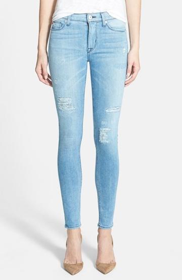 Women's Hudson Jeans 'nico' Distressed Skinny Stretch Jeans (buzzworthy)