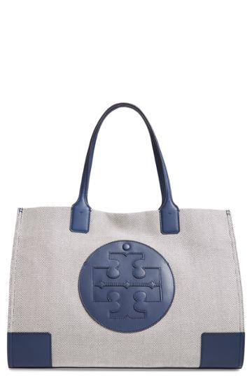 Tory Burch Ella Canvas Tote - Blue