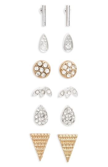 Women's Bp. 6-pack Crystal Stud Earrings
