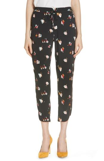 Women's Ted Baker London Flisie Colour By Numbers Floral Print Jogger Pants