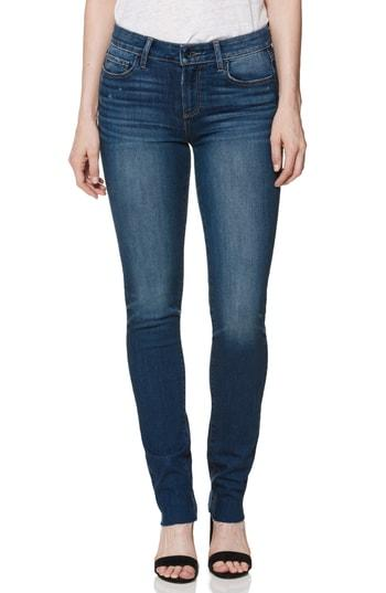 Women's Paige Skyline Raw Hem Skinny Jeans - Blue