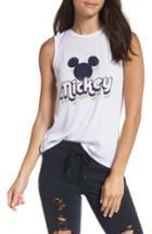 Women's David Lerner Mickey Pop Tank Top - Grey