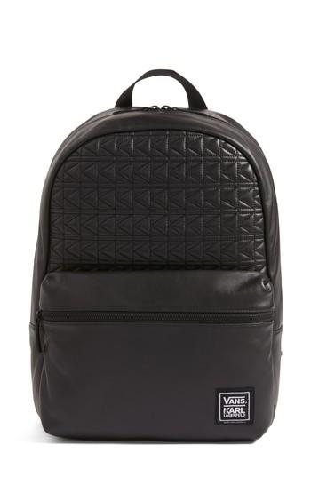 Vans X Karl Lagerfeld Quilted Leather Backpack -