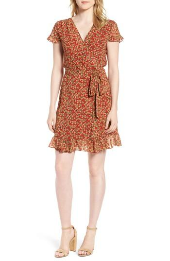 Women's Rebecca Minkoff Ana Floral Wrap Dress, Size - Red