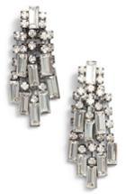 Women's Stella + Ruby Crystal Baguette Earrings