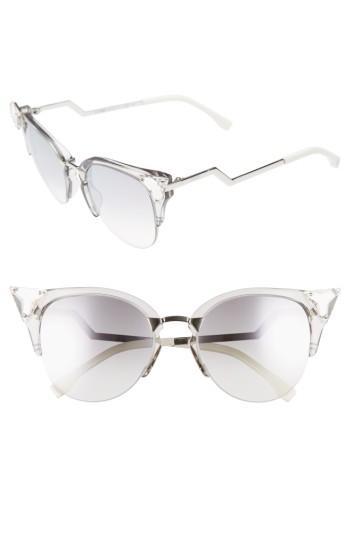 Women's Fendi 52mm Crystal Tip Cat Eye Sunglasses -