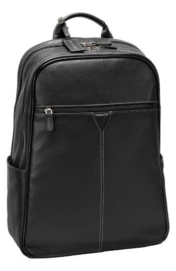 Men's Johnston & Murphy Leather Backpack -