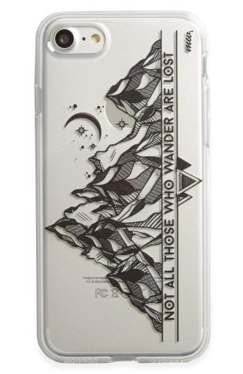 Milkyway Mountain & Moon Iphone 7 Case - Black