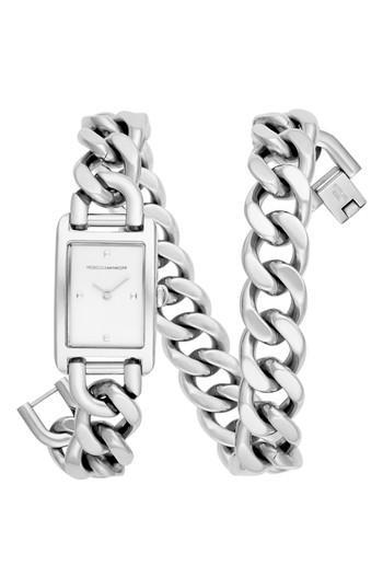 Women's Rebecca Minkoff Moment Chain Wrap Bracelet Watch, 19mm X 30mm