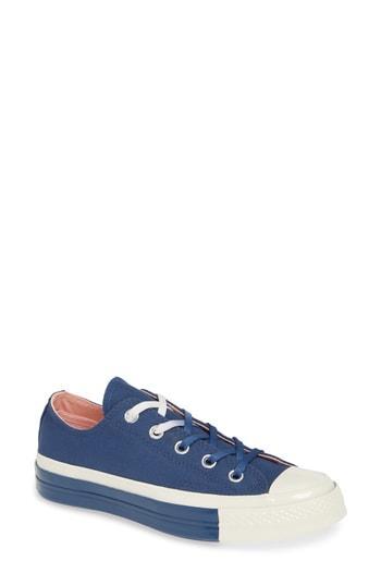 Women's Converse Chuck Taylor All Star 70 Colorblock Low Top Sneaker .5 M - Blue