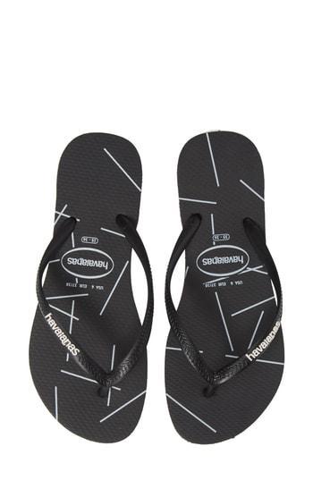 Women's Havaianas Slimstripes Flip Flop /36 Br - Black