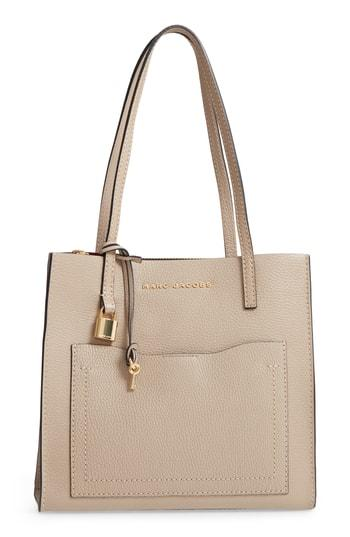 Marc Jacobs The Grind Medium Leather Tote - Beige
