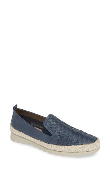 Women's The Flexx Chapter Woven Slip-on Sneaker .5 M - Blue