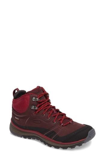 Women's Keen Terradora Leather Waterproof Hiking Boot M - Burgundy