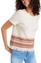 Women's Madewell Medina Fringe Sweater Tee - White
