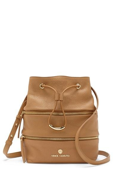 Vince Camuto 'meg' Pebbled Leather Bucket